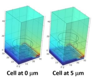 Lab-on-CMOS capacitance sensor array for real-time cell viability measurements